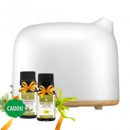 Oferta Speciala ! Difuzor Aromaterapie Dreamer 300ml cu 7 Culori Ambientale + 2 Uleiuri Esentiale Afrodiziace Ylang-ylang și Cedru de Atlas