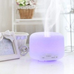 Difuzor aromaterapie Life of Leisure 500ml, EZEN, Alb, Umidificator Aer cu Ultrasonic, Control prin Telecomanda, 7 Culori Ambientale + CADOU