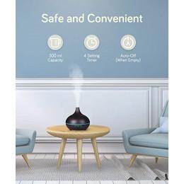 Difuzor aromaterapie Etna 500ml, EZEN, Lemn Inchis, Umidificator Aer cu Ultrasonic, Control prin Telecomanda, 7 Culori Ambientale + CADOU