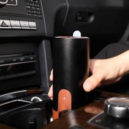 Difuzor aromaterapie CarAroma, Auto / Birou, EZEN, 50 ml,  Umidificator Aer cu Ultrasunete, Lemn Inchis + Negru
