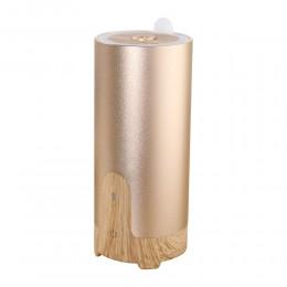 Difuzor aromaterapie CarAroma, Auto / Birou, EZEN, 50 ml,  Umidificator Aer cu Ultrasunete, Lemn Deschis + Auriu