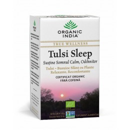 Ceai Tulsi Sleep cu Plante Relaxante, Reconfortante | Somn Calm, Odihnitor Plicuri