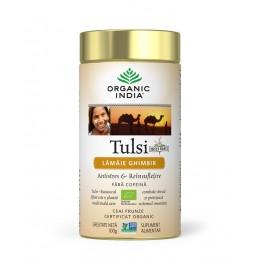 Ceai Tulsi (Busuioc Sfant) cu Lamaie si Ghimbir | Antistres Natural & Reinsufletire Cutie 100g