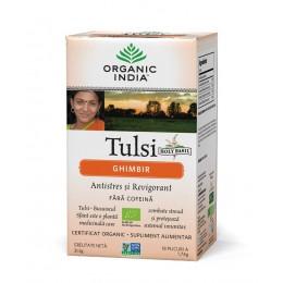 Ceai Tulsi (Busuioc Sfant) Ghimbir | Antistres Natural si Revigorant Plicuri