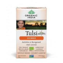Ceai Tulsi (Busuioc Sfant) cu Lamaie si Ghimbir | Antistres Natural & Reinsufletire Plicuri