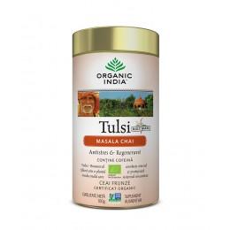 Ceai Tulsi (Busuioc Sfant) Masala Chai | Relaxant & Regenerant Cutie 100g